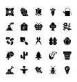 nature and ecology solid icons 1 vector image vector image