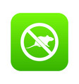 no rats sign icon digital green vector image