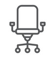 office chair line icon office and work vector image vector image