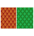 seamless thai batik pattern in pixel art vector image vector image