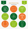 set saint patrick s day icons vector image vector image