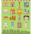 Set with buildings icons vector | Price: 1 Credit (USD $1)