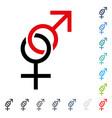 sex symbol icon vector image vector image