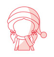 shadow christmas upperbody girl vector image vector image