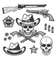 sheriff or marshal objects and elements vector image vector image
