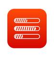 sign horizontal columns load icon digital red vector image vector image