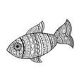 sketch of ornamental fish vector image