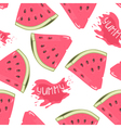 Slices of watermelon seamless pattern with juice vector image vector image