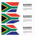 south africa flag banners collection independence vector image vector image