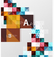 square modern abstract background vector image