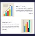 statistics and analytics data info graphics set vector image vector image