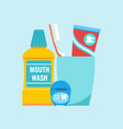teeth everyday hygiene tools concept vector image vector image