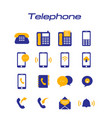 telephone phone icons white background imag vector image