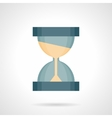 Time flow flat color icon vector image