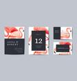 tropical retro wedding invitation card flamingo vector image vector image