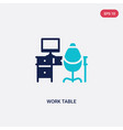 two color work table icon from business concept vector image vector image
