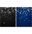 two winter backgrounds with snowflakes vector image vector image