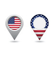 usa flag location pin vector image vector image