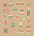 vintage holiday labels and gift tags vector image vector image