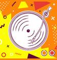 vinyl music player retro colorful art concept vector image vector image