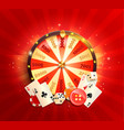 welcome flyer for casino online vector image
