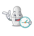 with clock unpainted nested russian dolls on vector image vector image