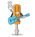 with guitar screwdriver character cartoon style vector image vector image