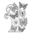 Zentangle flying Butterflies for adult anti vector image vector image