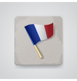 France flag icon vector image