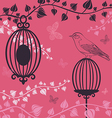 The of Birdcage and butterflies vector image
