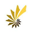 abstract spiral shell ladder symbol logo design vector image