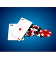 Aces and chips vector image vector image