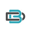 b d letter logo template vector image vector image