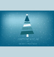 beautiful holiday card with fir tree art stripes vector image