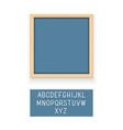 blue letter board vector image vector image