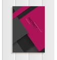 Brochure in material design style vector image vector image