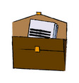 brown portfolio folder document paper office vector image vector image