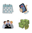 calendar telephone conference agreement cash vector image vector image