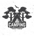 camping away from town concept for vector image vector image