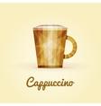 cappuccino triangular logo vector image