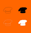 chef cooking hat icon vector image vector image