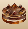 chocolate cake polygon vector image