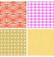 colorful african ethnic pattern set vector image vector image