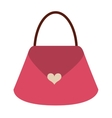 cute bag female isolated icon vector image vector image