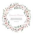 cute wreath with leaves and flowers vector image vector image