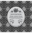 Damask Floral Invitation Card vector image
