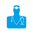 doctor icon physician sign symbol vector image vector image
