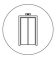elevator doors icon black color in circle isolated vector image
