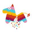 fiesta horse pinata vector image vector image