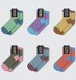 Flat Design Socks Set vector image